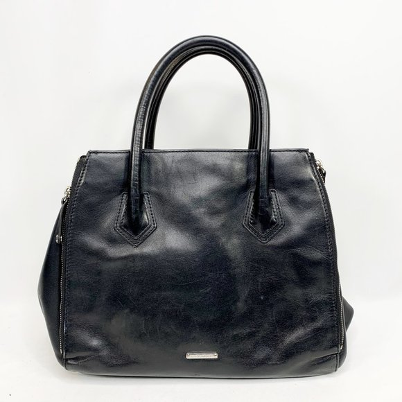 Rebecca Minkoff Handbags - REBECCA MINKOFF Black Leather Handbag